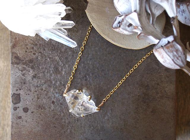 [一点物]原石のダイヤモンドクォーツのネックレス