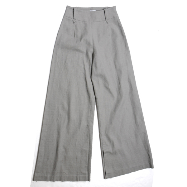 df17SS-IR04 WIDE PANTS LINEN