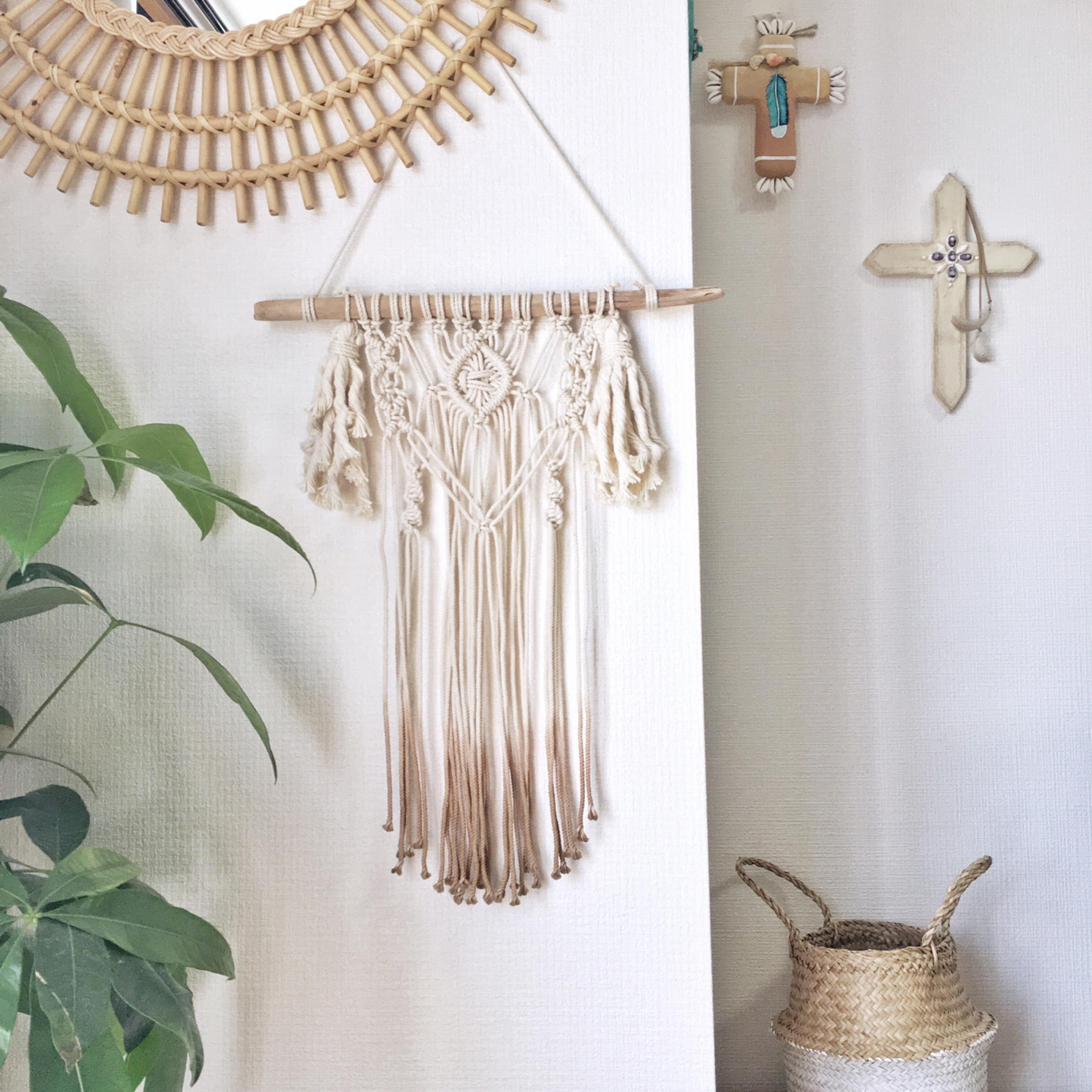 Dipdye macrame tapestry - bohemian × tassel -