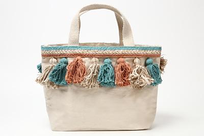 リラキャンベル canvas tassel bag(水色)