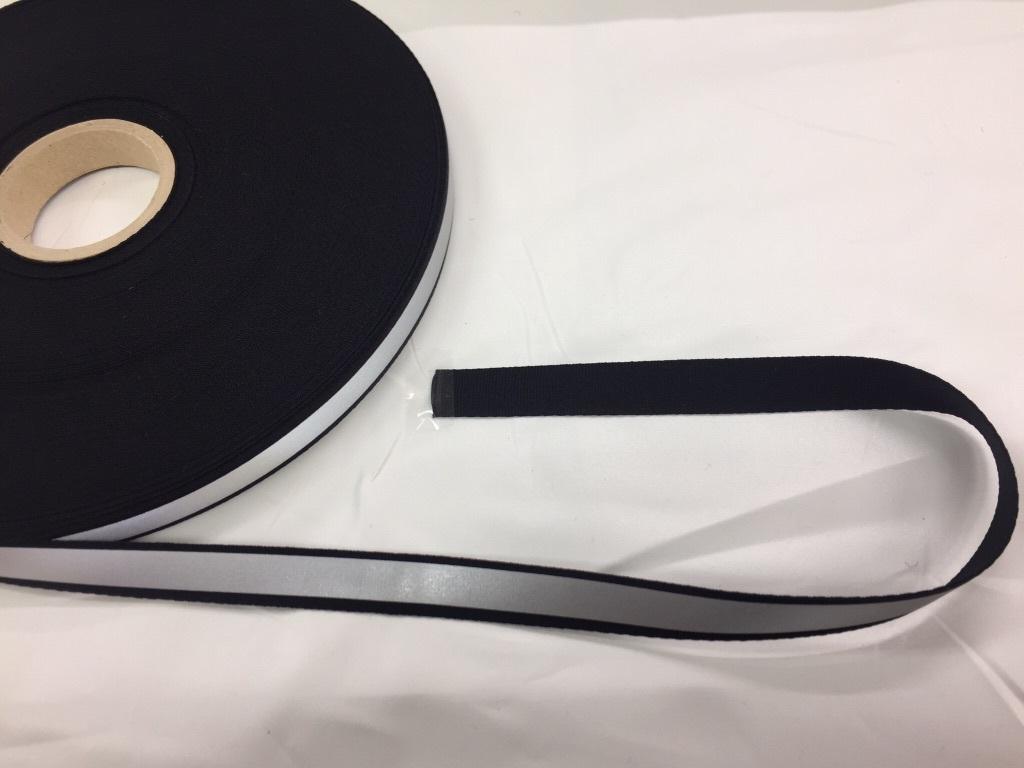 反射テープ ポリエステルテープ 反射ライン 15mm幅 黒/カラー 5m単位