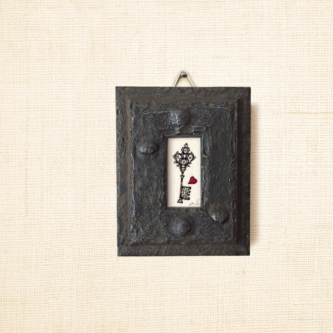 ミニ額縁 原画【 秘めごと 】