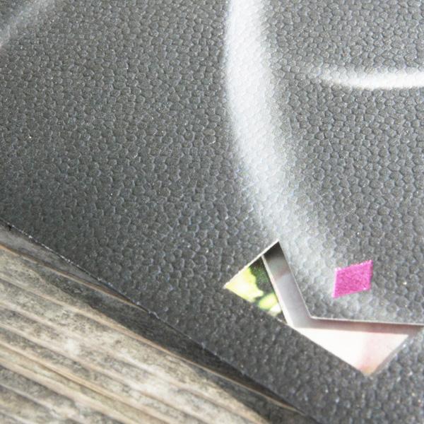【黒×花柄】カード付スタイリッシュ封筒 HGC01C