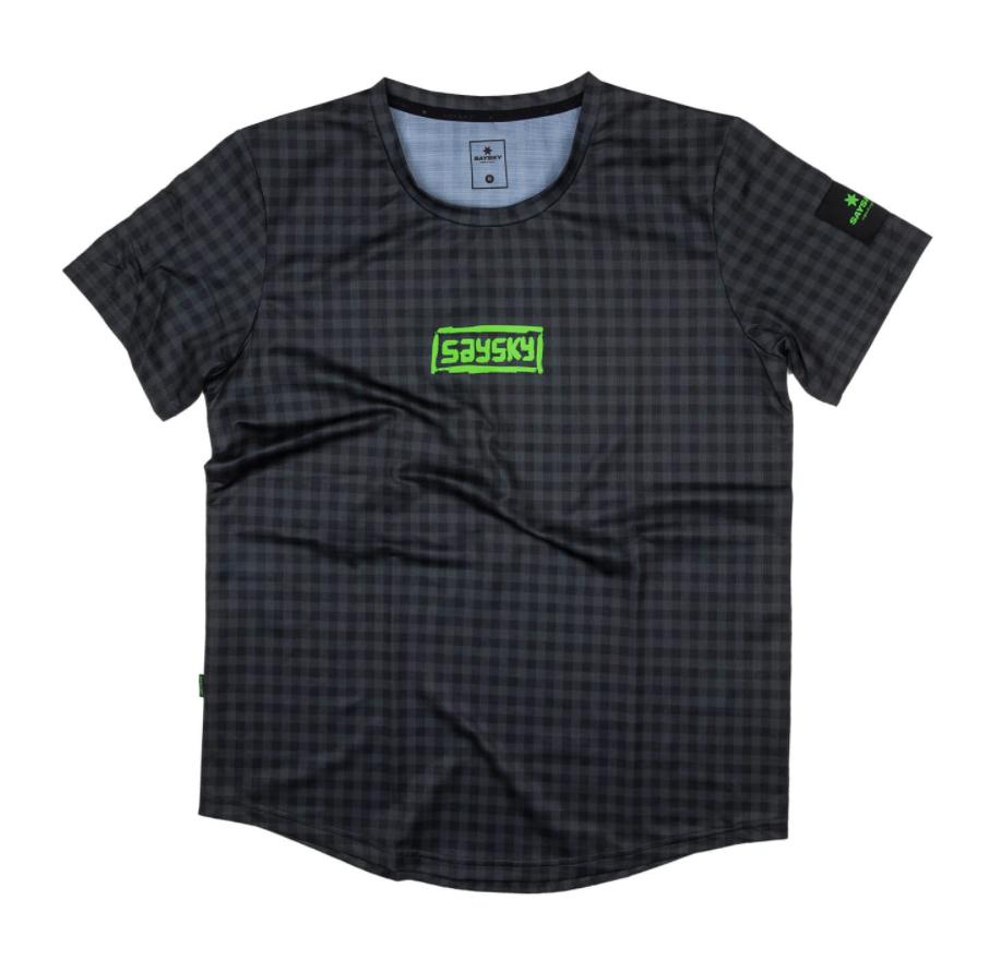 【10%OFF】SAYSKY セイスカイ ランニングTシャツ FTN Combat Tee - ASPHALT CHECKERBOARD [ユニセックス] FMRSS11