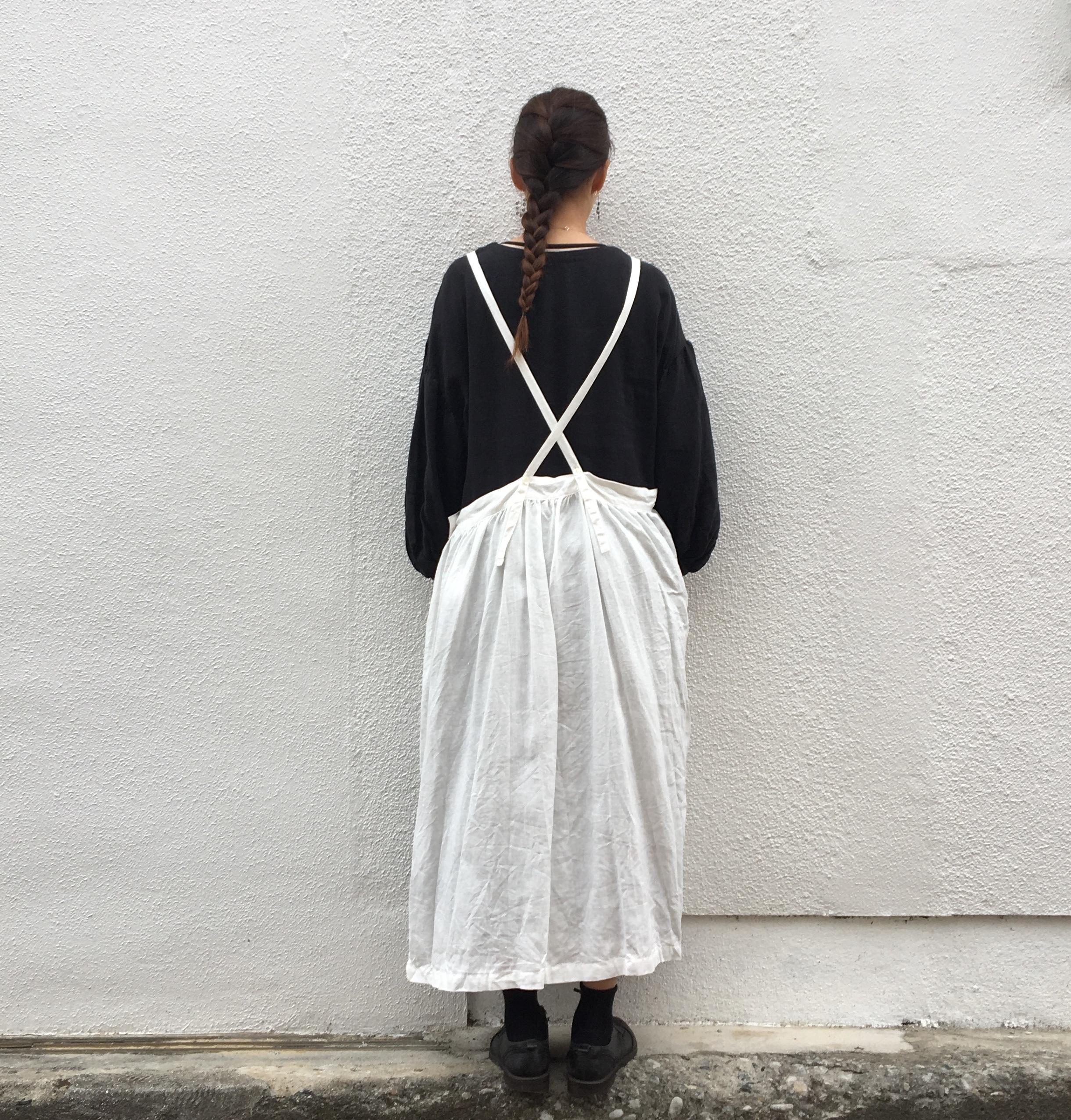 ANLinen エプロンドレス white