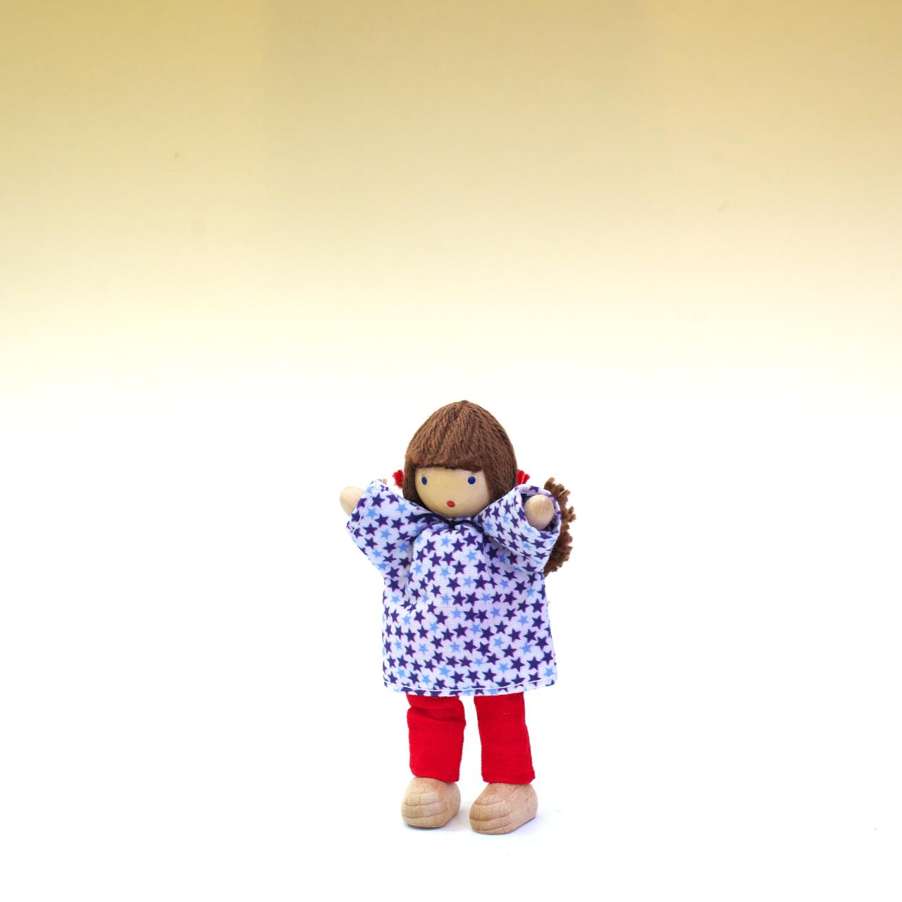 ヘアヴィック製人形 星のシャツの女の子