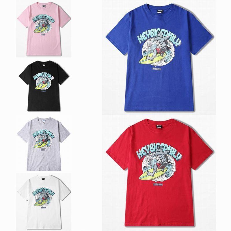 ユニセックス 半袖 Tシャツ メンズ レディース サメ サーフィン オーバーサイズ 大きいサイズ ルーズ ストリート