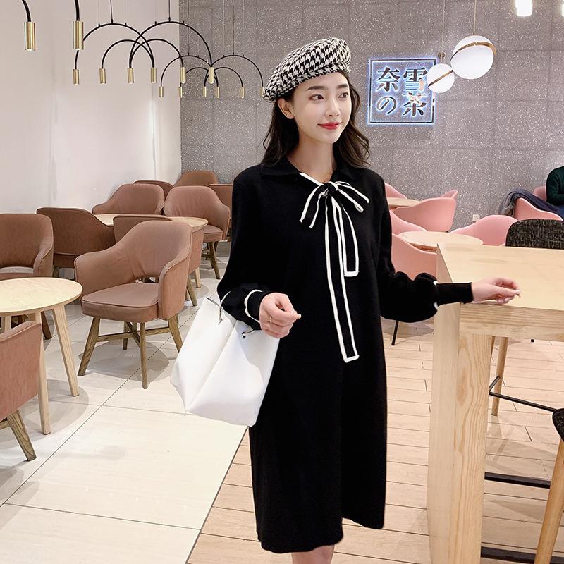 ad2506ab1a9 ワンピース】韓国風シンプルリボンニットワンピース | ファッション ...
