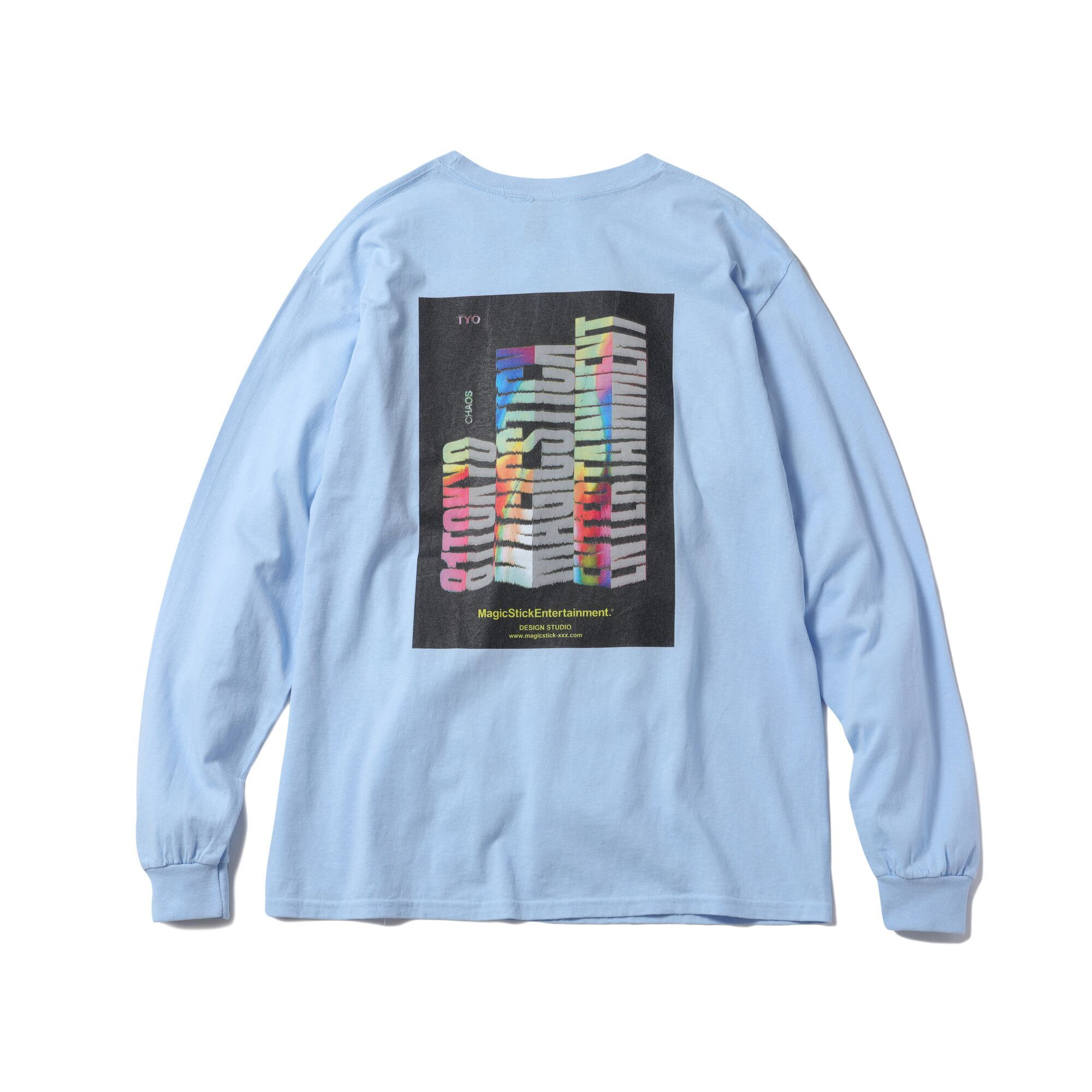 MAGIC STICK Block Logo LS T-Shirts LIGHT BLUE