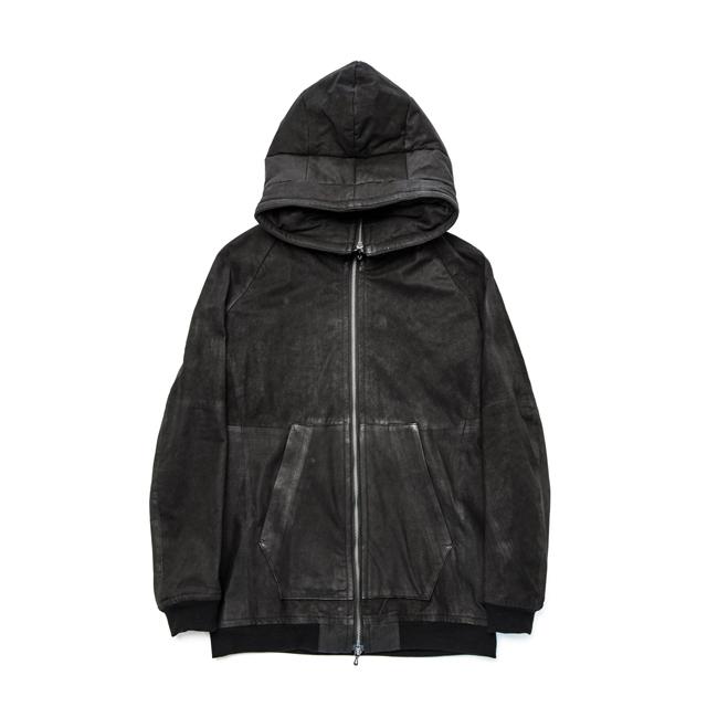 587BLM1-BLACK / フーデッドジャケット