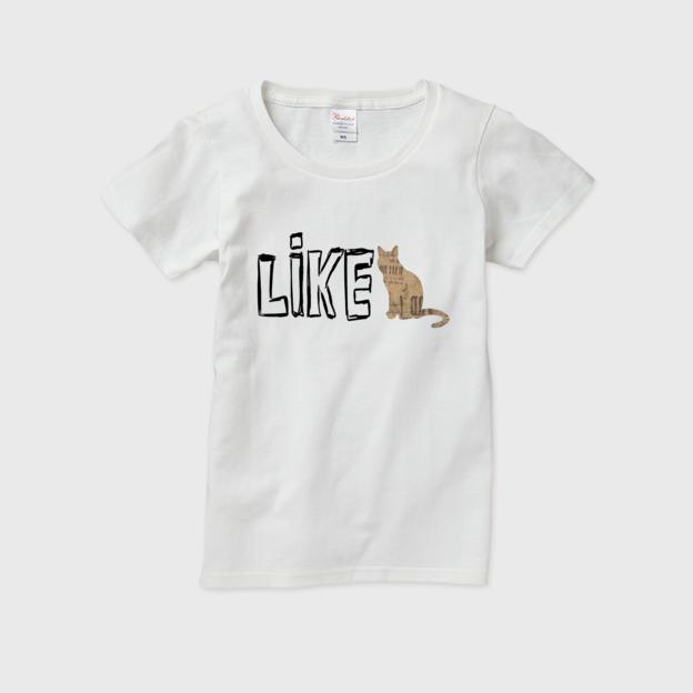 LIKE(ネコ) / レディースTシャツ