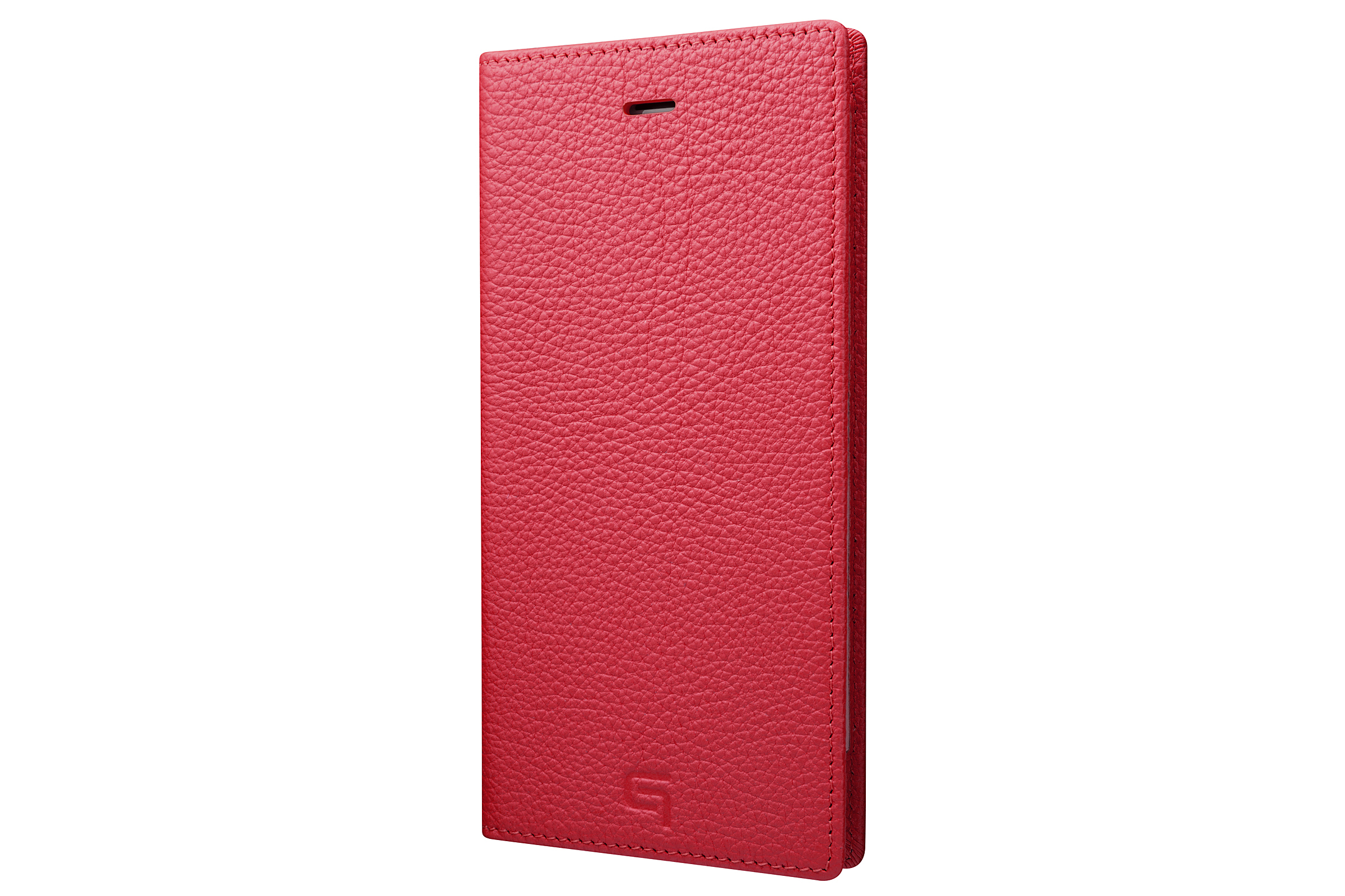 GRAMAS Shrunken-calf Full Leather Case for iPhone 7 Plus(Pink) シュランケンカーフ 手帳型フルレザーケース - 画像1