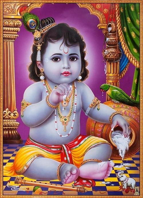 インドの神様 クリシュナ神(幼少...