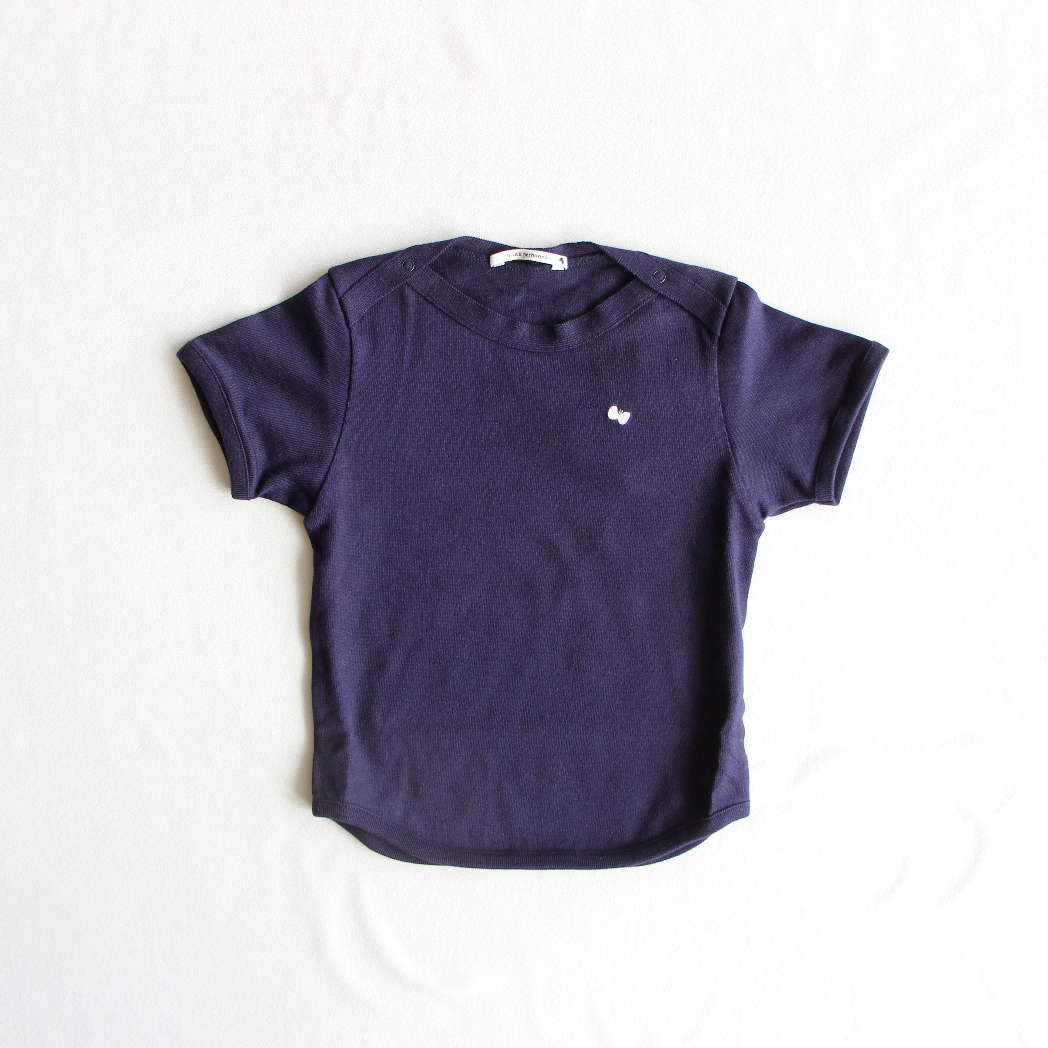 《mina perhonen 2018SS》zutto Tシャツ / navy / 80-100cm