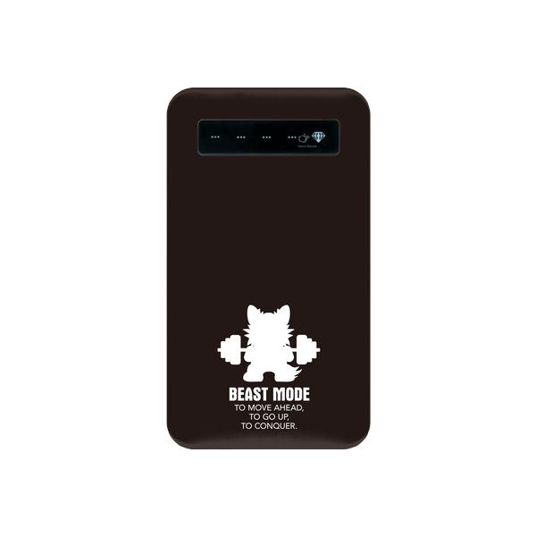 【BEASTMODE】携帯充電器 シルエット チワワ ブラック