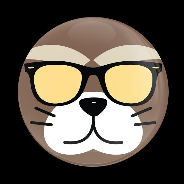 ゴーバッジ(ドーム)(CD0892 - Fancy Cat) - 画像1