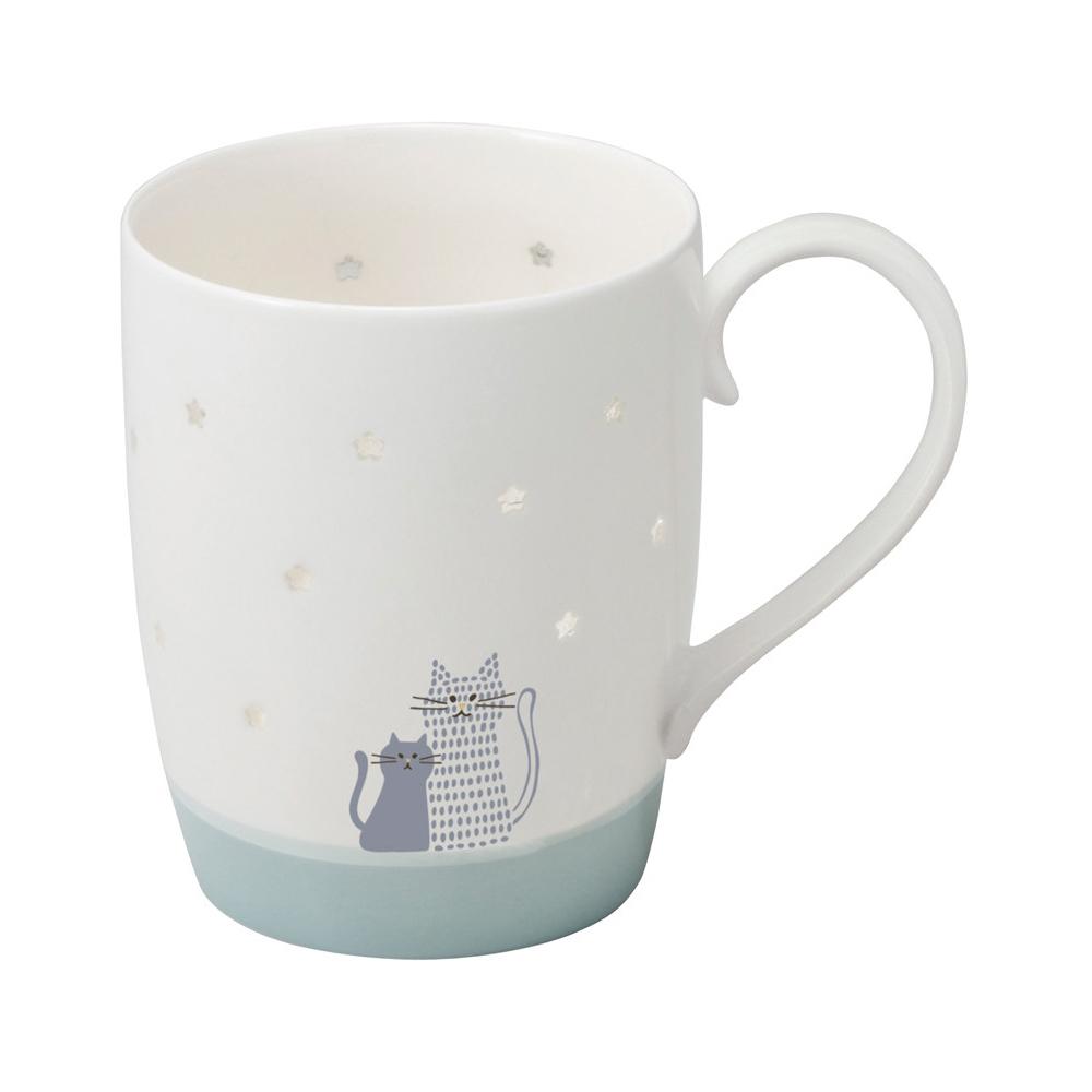 猫マグカップ(お星様が浮かび上がるマグ)