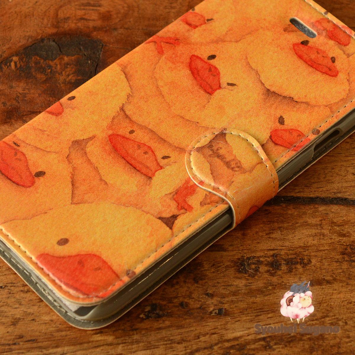 【訳あり】アイフォン6s ケース 手帳型 かわいい iphone6s ケース 手帳 大人かわいい iphone6s ケース 手帳 シンプル かわいい おしくらひよこ/Syouhei Sugano【ss-iph6t-08057-B3】