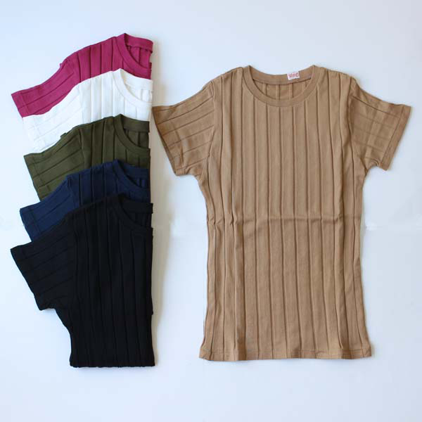 【YOUNG&OLSEN】 BROAD RIB CREW NECK S/S