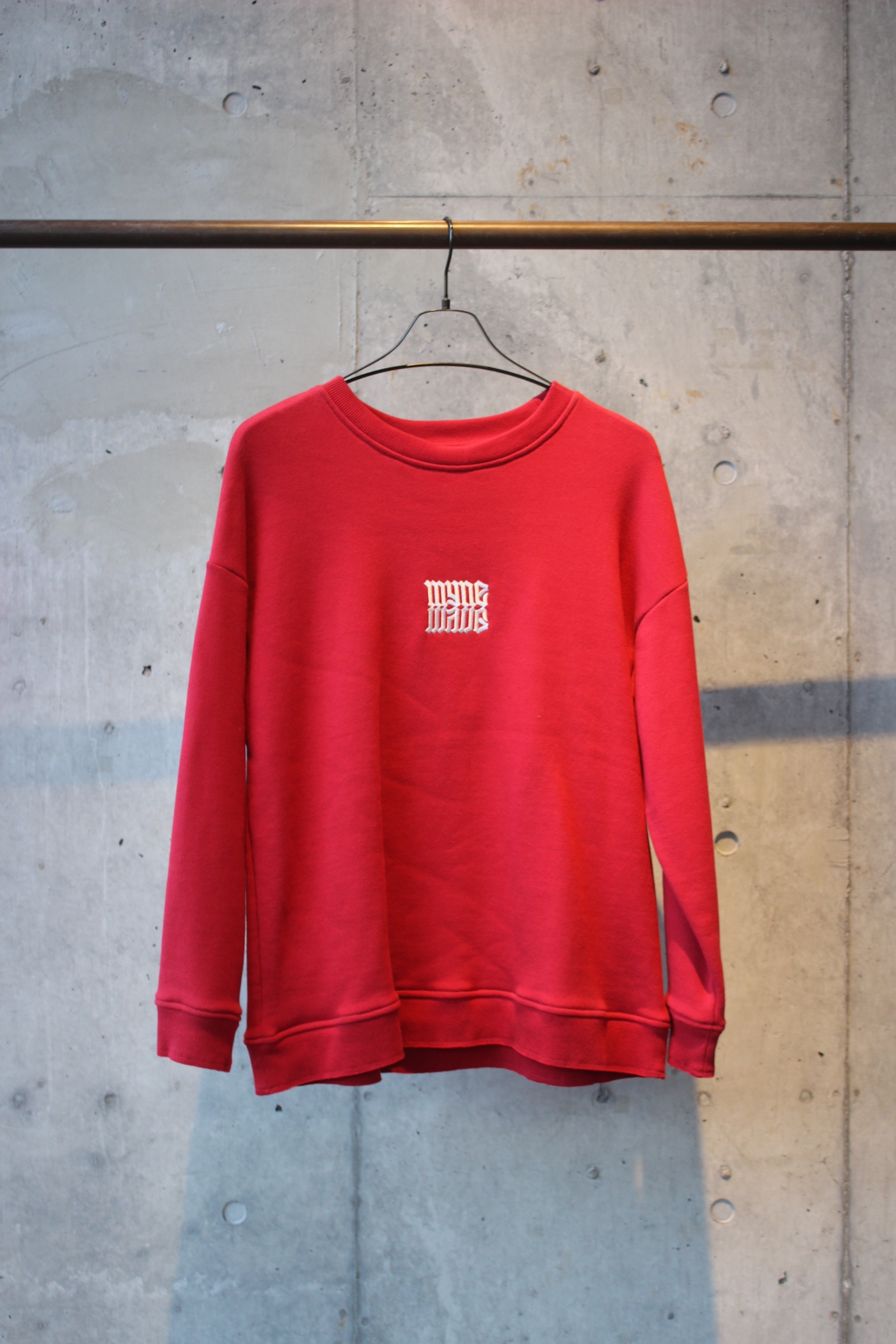 【50%OFF】embroidery pullover / RED - 画像1