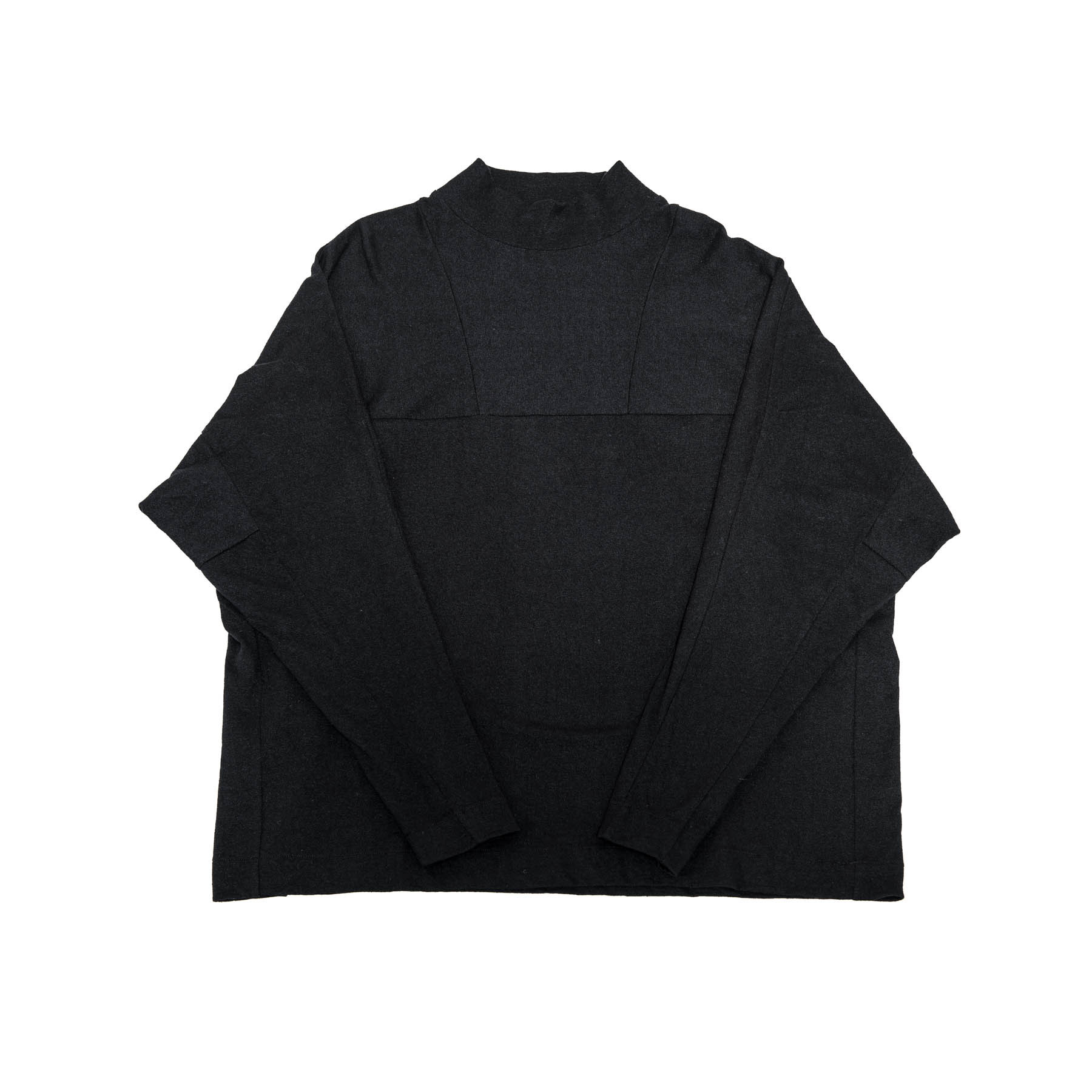 597CUM17-BLACK / シームドハイネックカットソー
