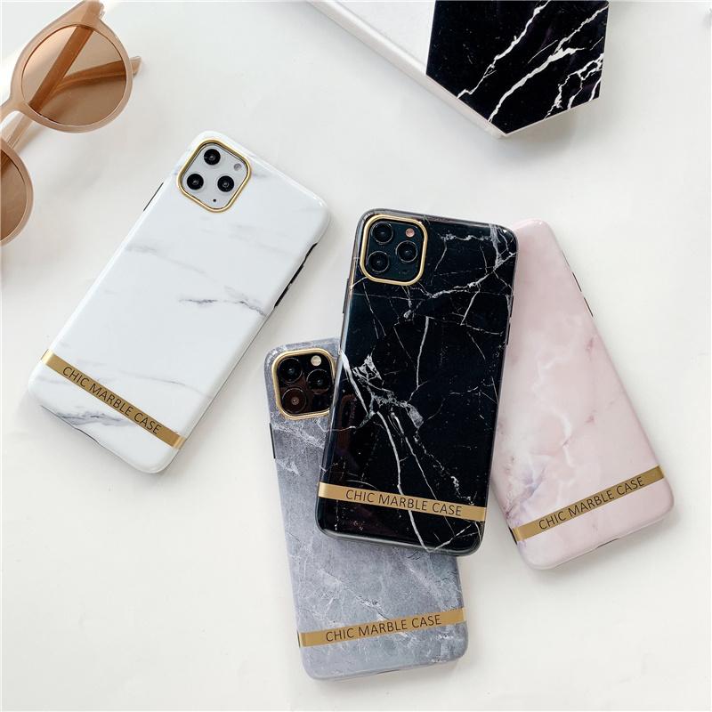 【お取り寄せ商品、送料無料】4カラー 大理石調 英文字 光沢 ソフト iPhoneケース iPhone11