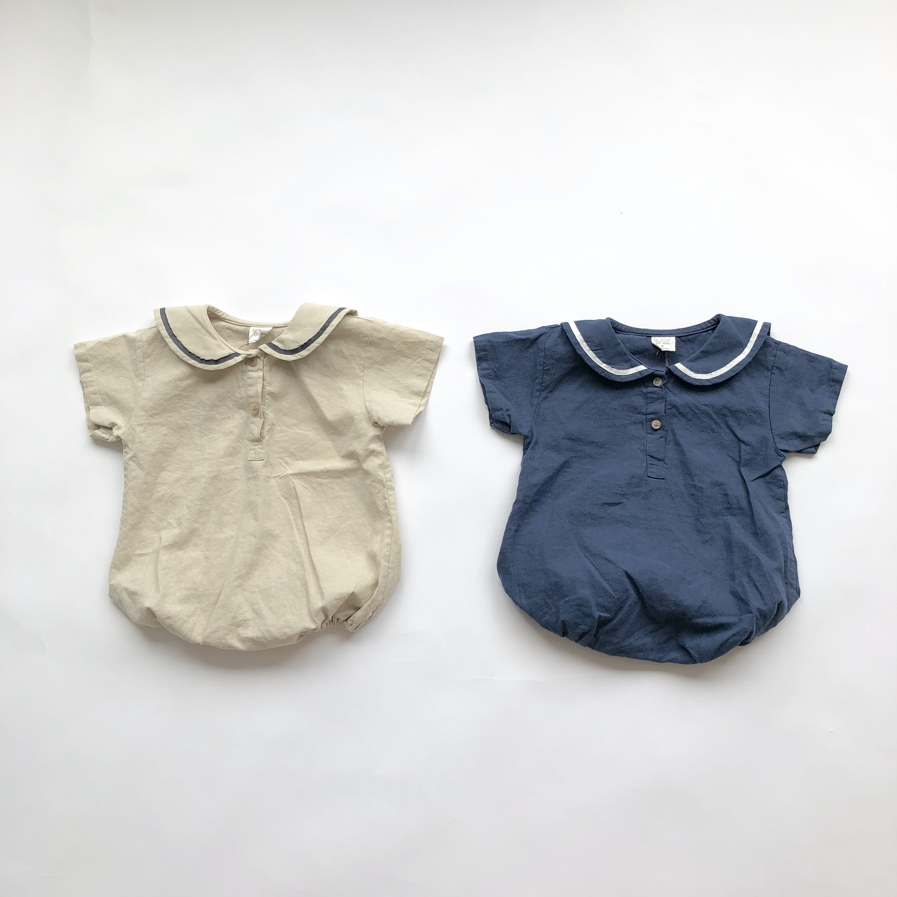 《 175 》Re : stock   Summer Sailor rompers