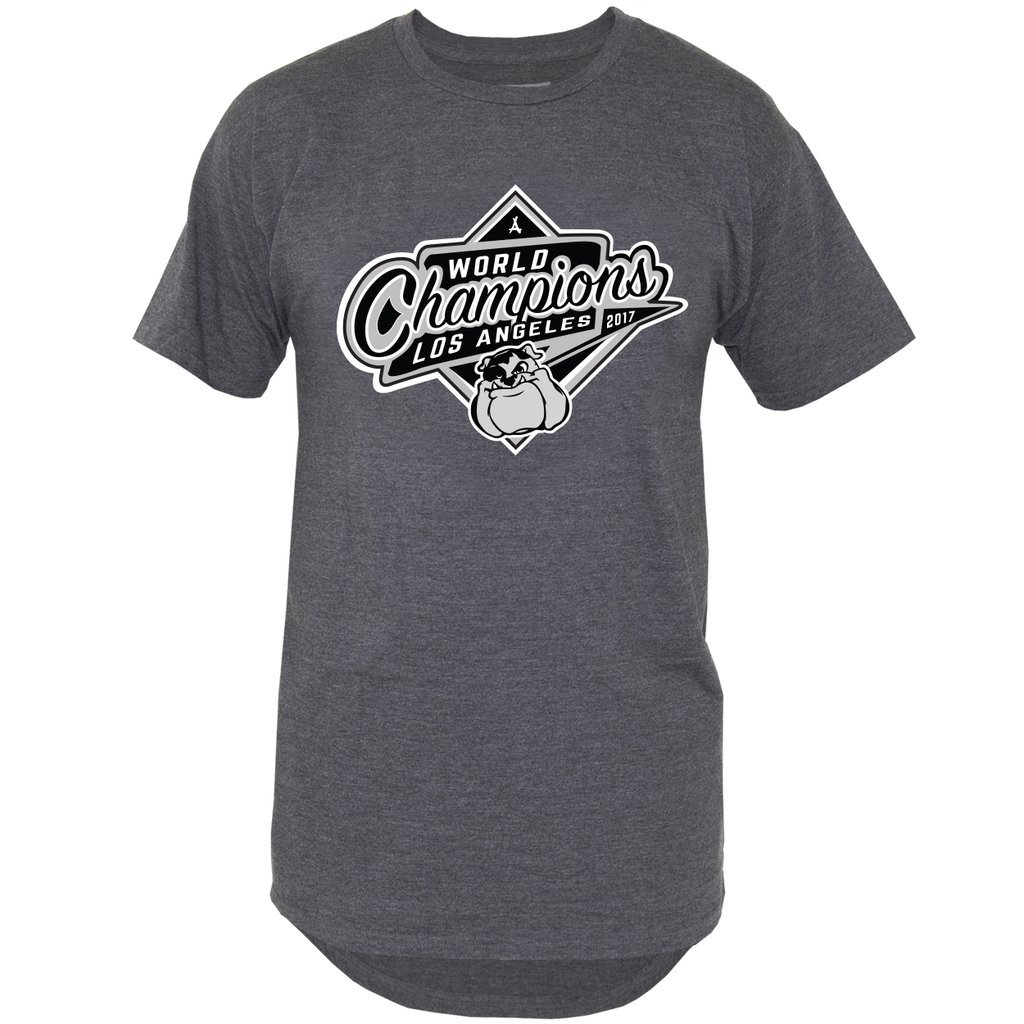 2017 WORLD CHAMP EXTENDED TEE (GREY)