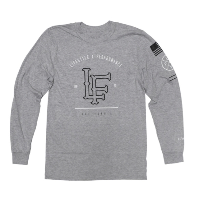LIVE FIT California Long Sleeve- Heather Grey