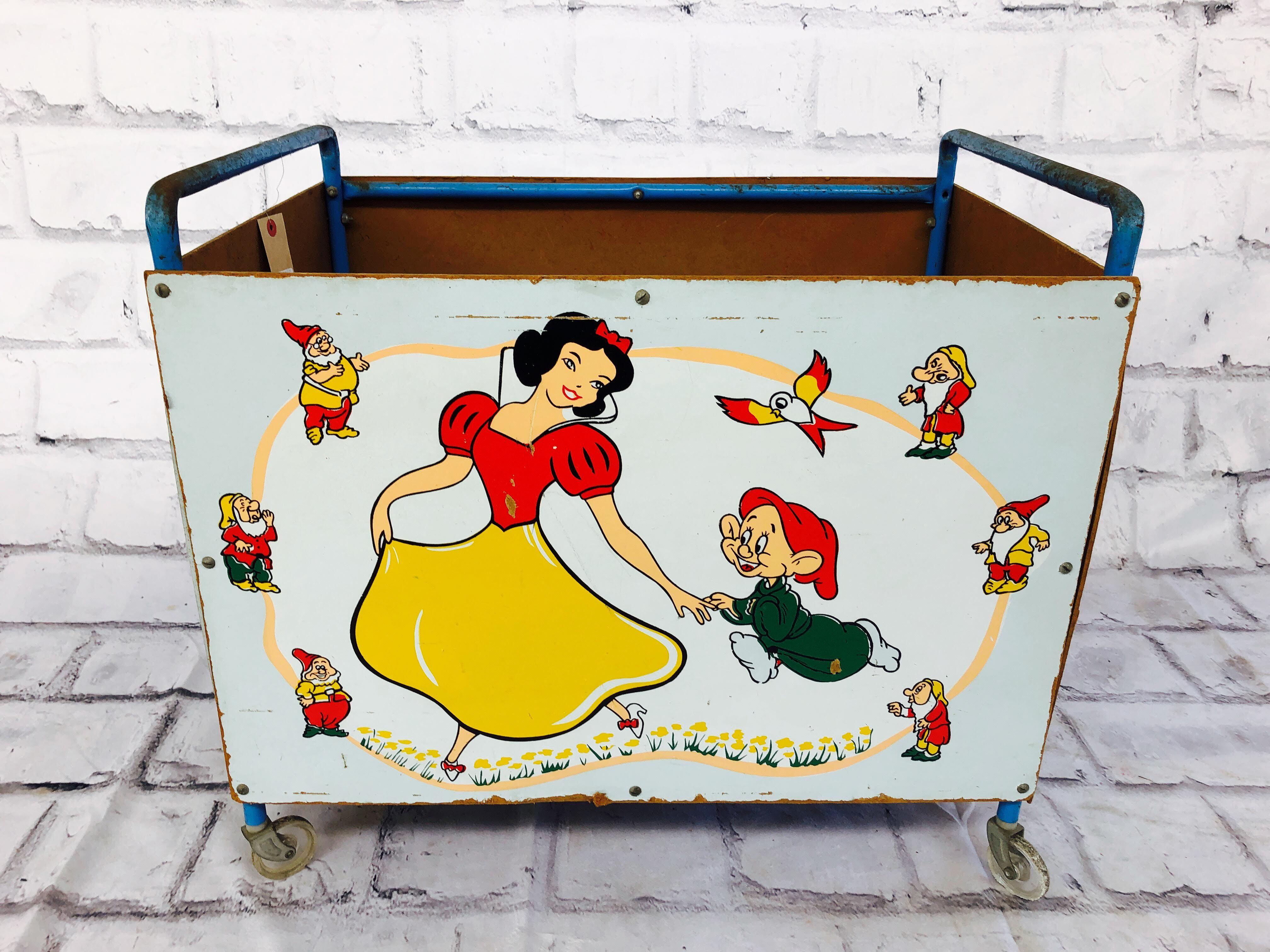 品番2505 Walt Disney's TOY BOX『Snow White』 おもちゃ箱 キャスター付き トイカーゴ インテリア ディスプレイ ヴィンテージ