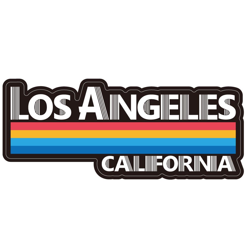 """154 70sなLos Angeles """"California Market Center"""" アメリカンステッカー スーツケース シール"""