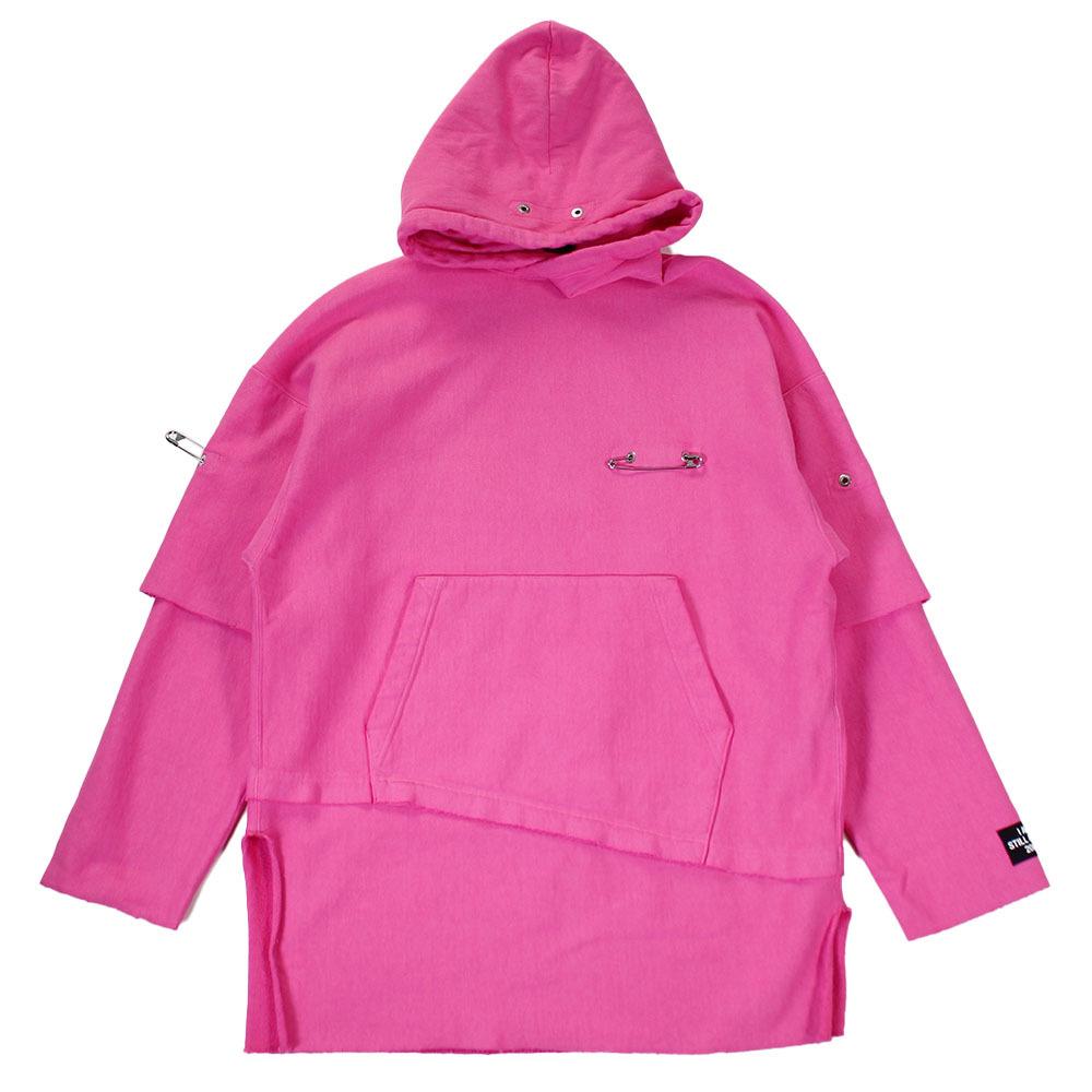 ALMOSTBLACK Pink Hoodie