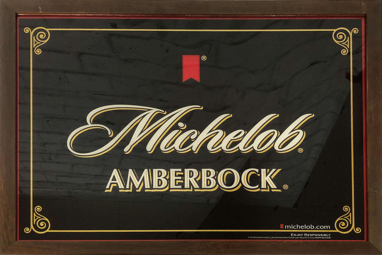 品番0139 パブミラー 『Michelob Amber Bock(ミケロブ アンバーボック)』 壁掛 アート ディスプレイ アメリカン雑貨