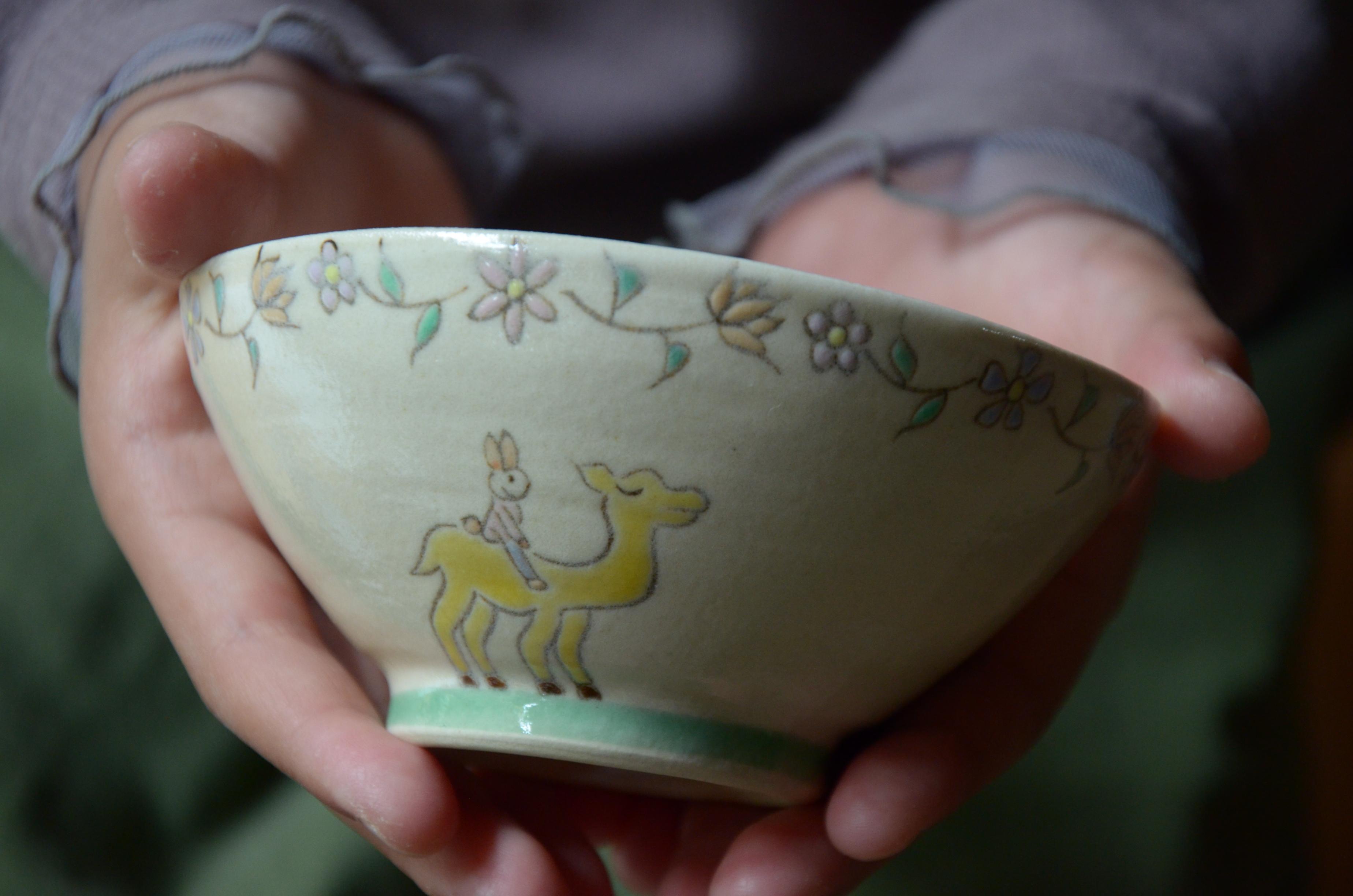 旅するうさちゃん 子ども茶碗
