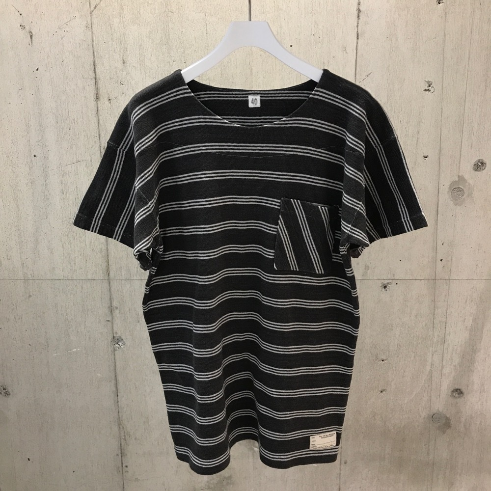 FILL THE BILL SWIM BORDER BOAT NECK T BLACK