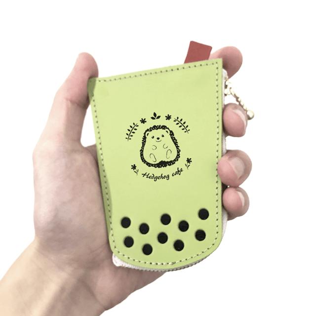 タピオカの本革キーケース【4月限定ハリネズミ】