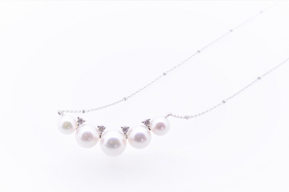 アコヤ真珠 デザインペンダント ダイヤ付