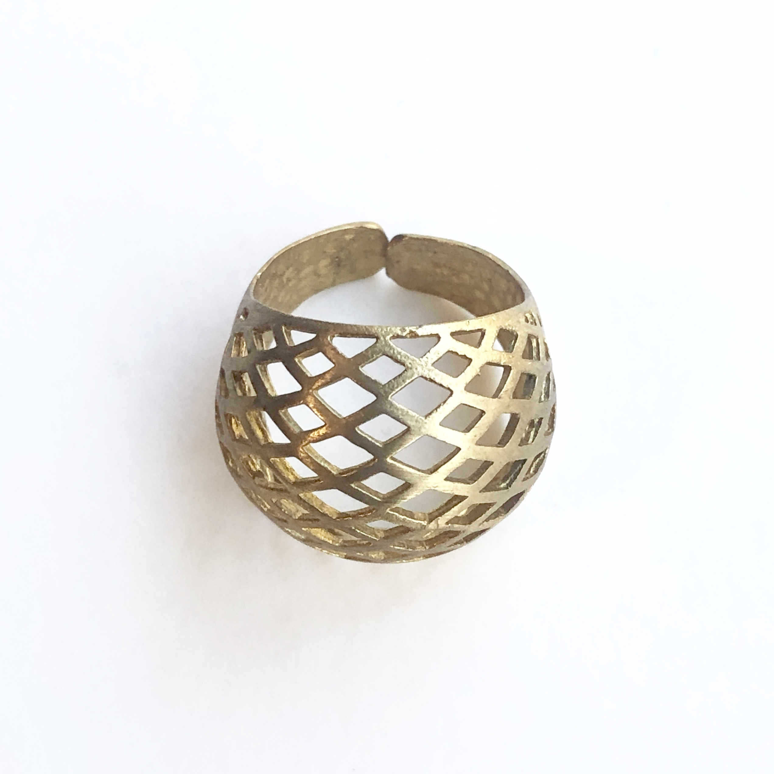 Raw brass Rings -  puffyリング RG-030