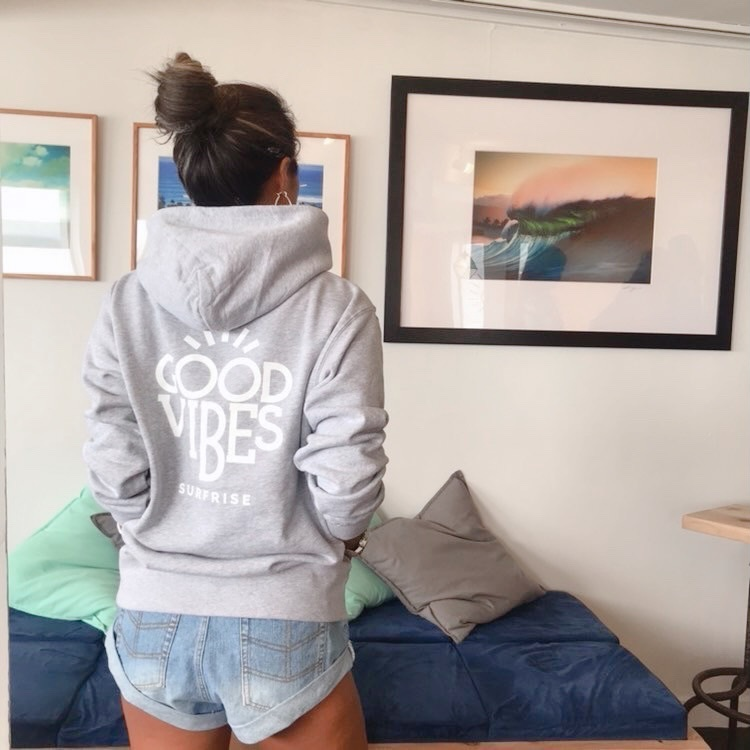 GOOD VIBES Hoodie - Mix gray
