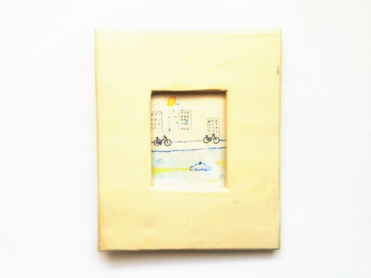 レモンの夜に イラスト原画陶器の額縁入り Nao Kamimura