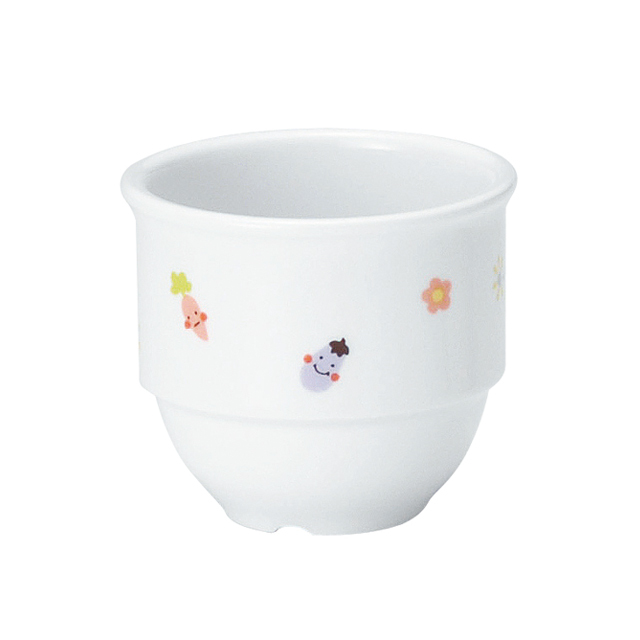 【1932-1230】強化磁器 乳児用カップ (Φ7cm×H6.1cm/満水130ml) ぷちやさい