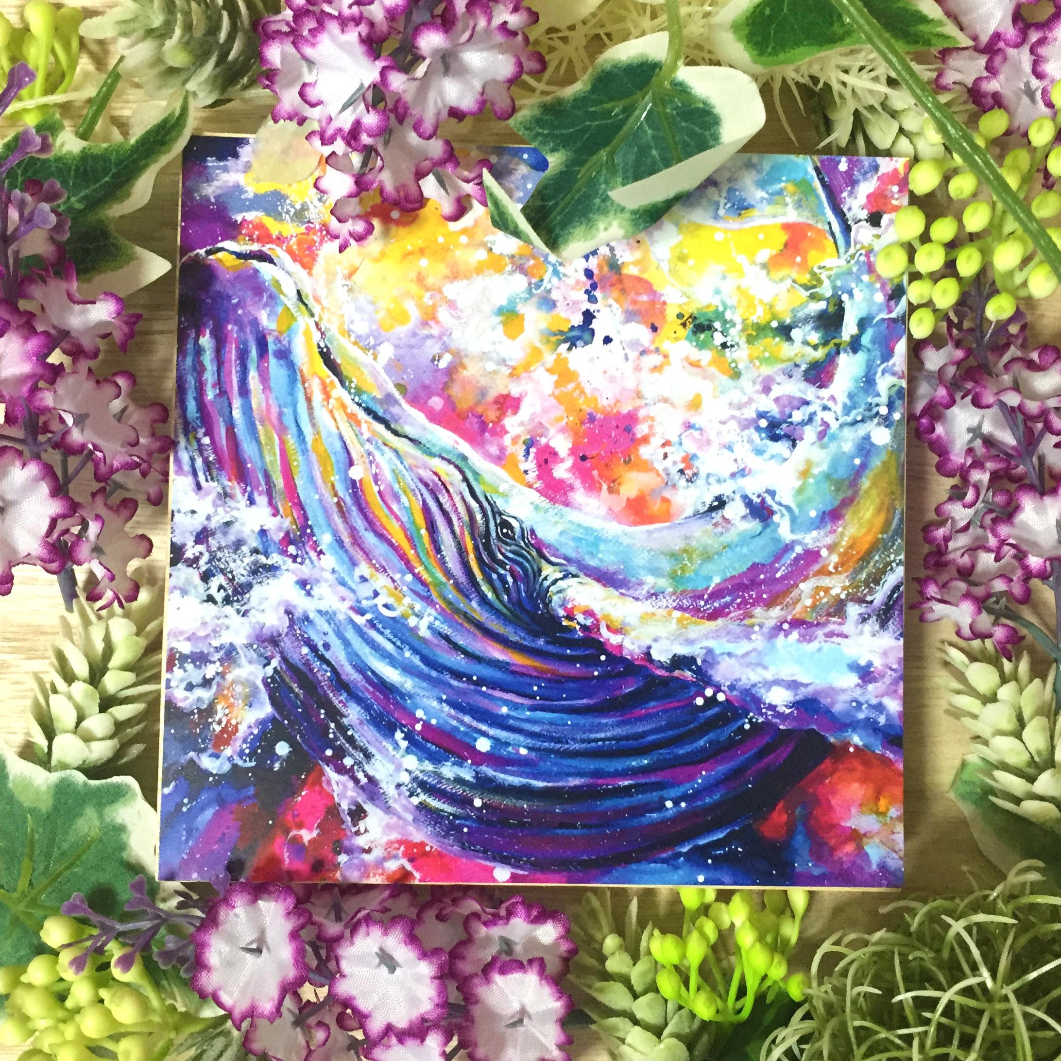 絵画 インテリア アートパネル 雑貨 壁掛け 置物 おしゃれ 水彩画 クジラ 動物 ロココロ 画家 : 平田幸大 作品 : 可能性を超えて