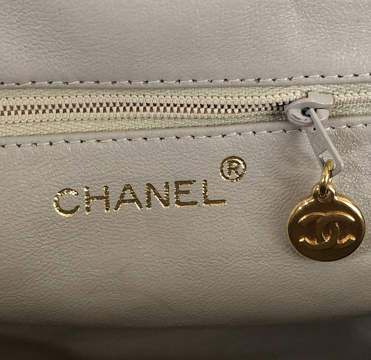 buy online 80442 f405c CHANEL Quilted CC Chain Hand Bag Blue Green vintage vt ...