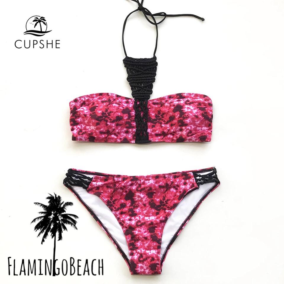 【FlamingoBeach】pink pattern bikini ビキニ