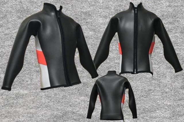 ダイビングフラットスキン5mm長袖ジャケット立衿wsm1710FS(フルオーダー料込)