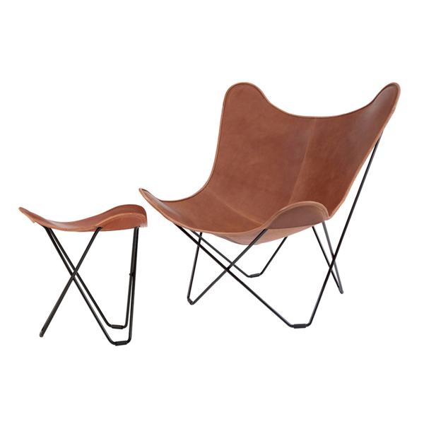 cuero BKF Chair ブラウン + フットレスト SET[今だけPILLOWプレゼント]