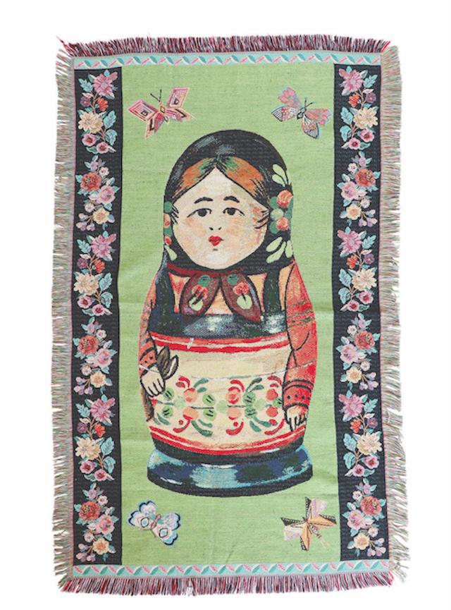 Nathalie Lete  Tapestry Rug Russian doll ナタリーレテ タペストリーラグ