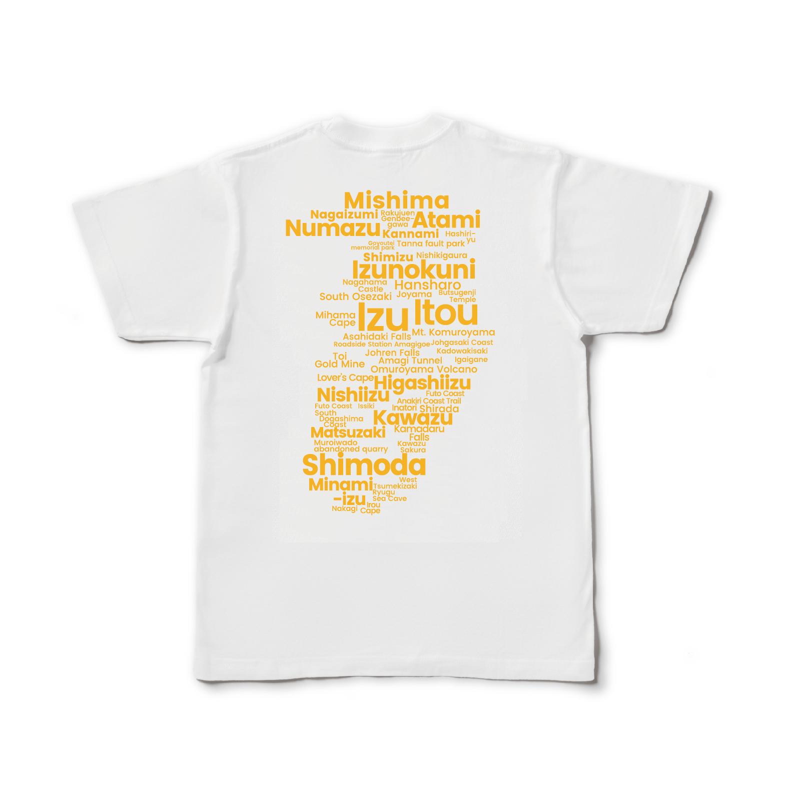 【即日発送】Izu GEO Typography Tee(Gold Yellow)