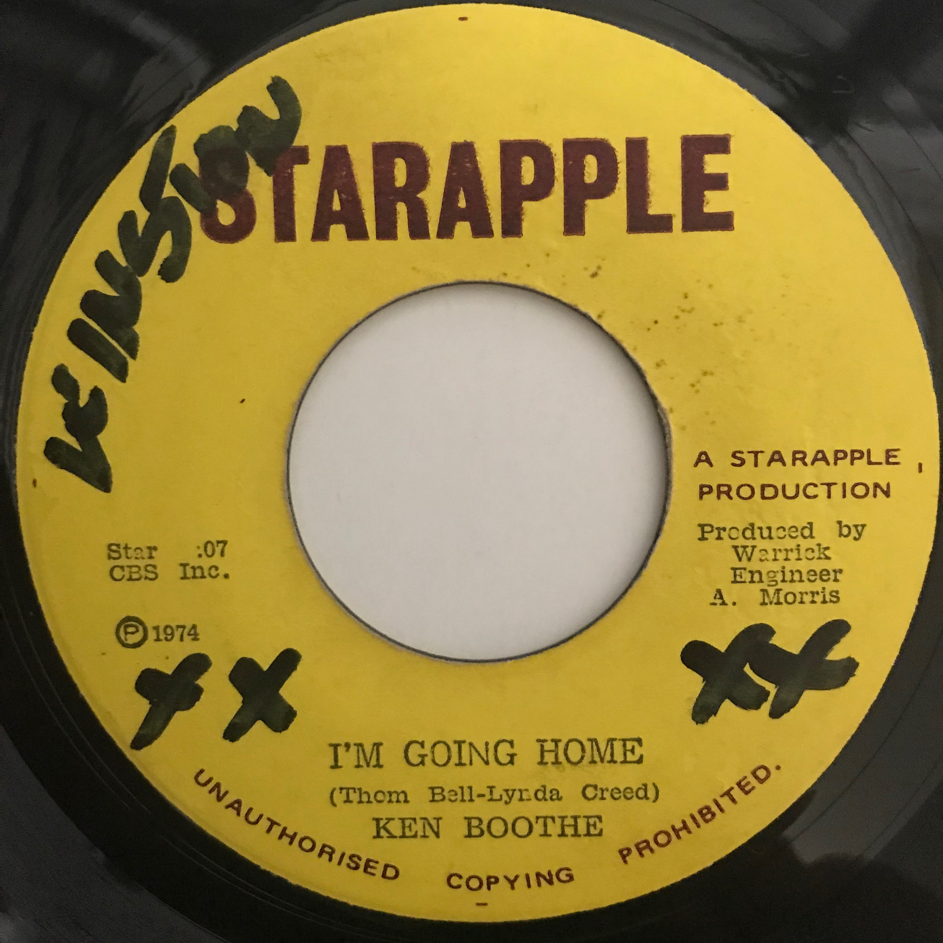 Ken Boothe(ケンブース) - I'm Going Home【7-10787】