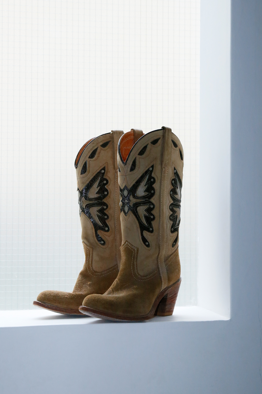"""miss capezio""  Butterfly Motif Boots"